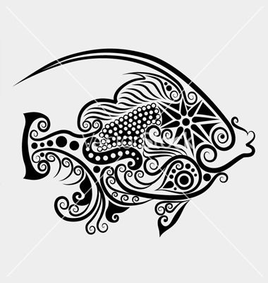 Decorative fish 2 vector 947857  by cundrawan703 on VectorStock® is part of Fish drawings -
