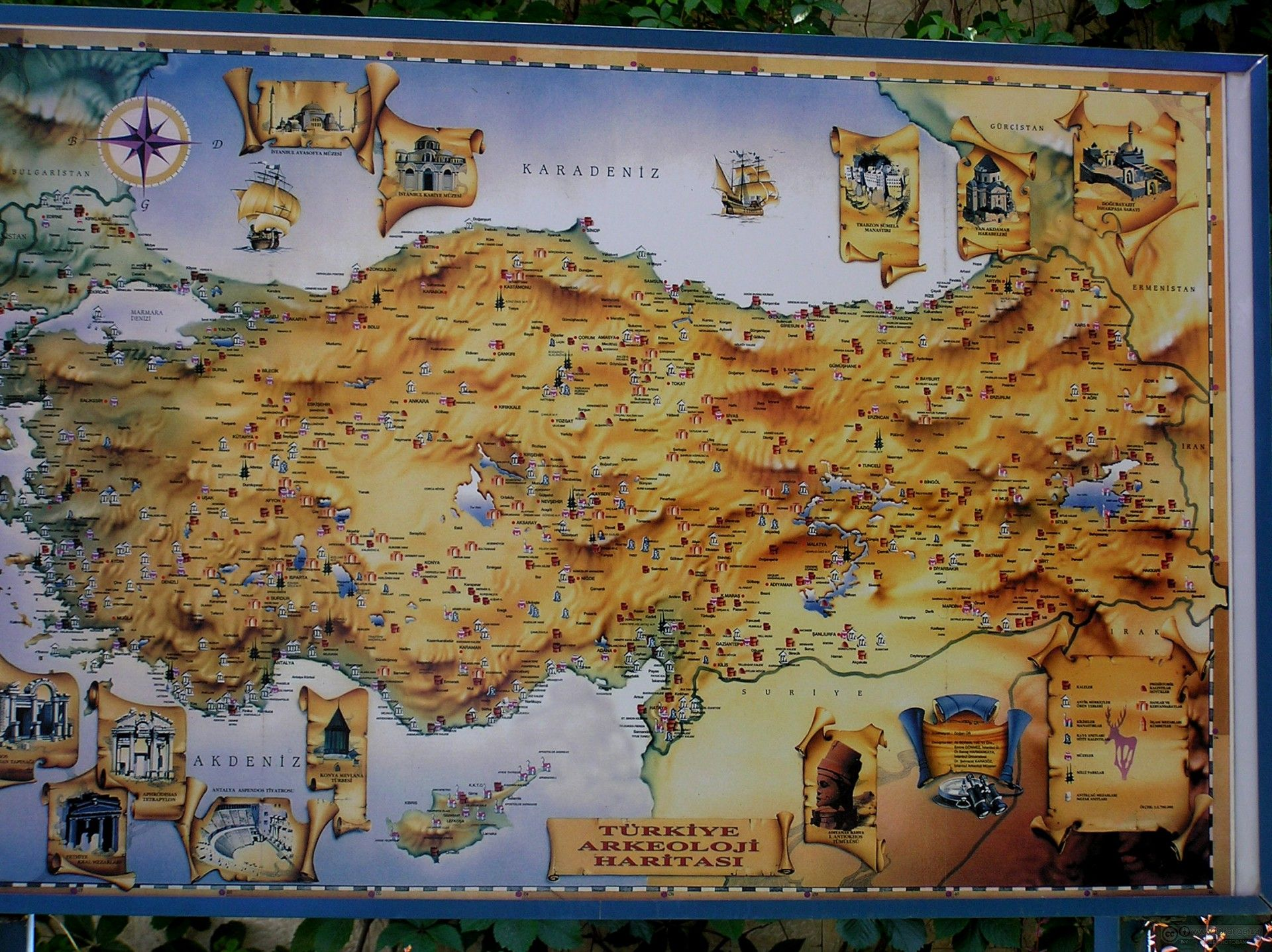 Turkey Map Places To Visit Travel Abroad Vintage World Maps