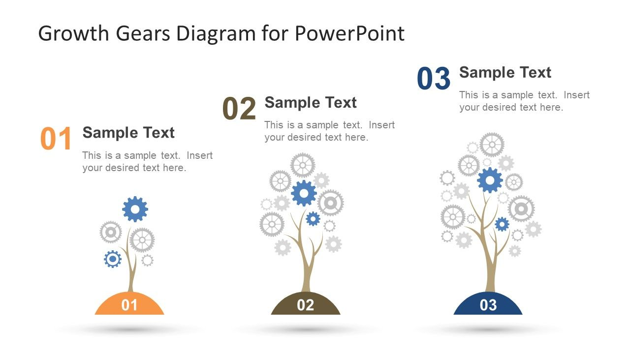 Growth Gears Diagram For Powerpoint  Diagram And Template