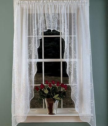 Window Toppers Divine Sheer Swag   Country Curtains®