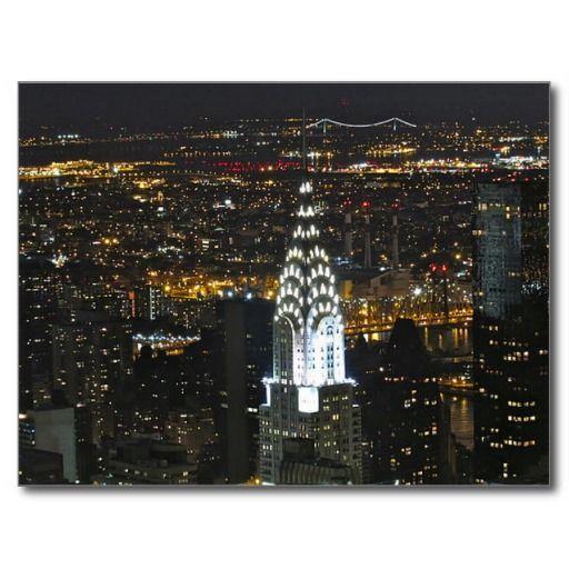 Postcard Chrysler Building in New York, USA Carte Postale
