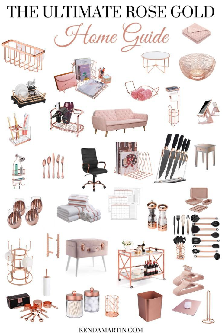 THE ULTIMATE ROSE GOLD HOME DECOR GUIDE - KENDA MARTIN