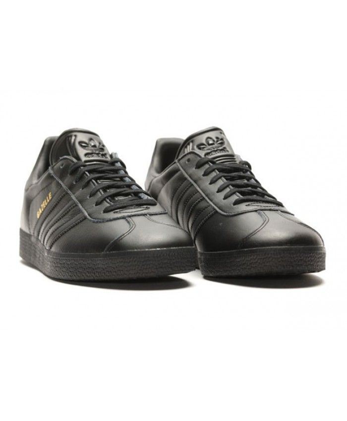 170e9837d6ba6 Adidas Gazelle Black Leather Triple Black Shoes   GAZELLE ...