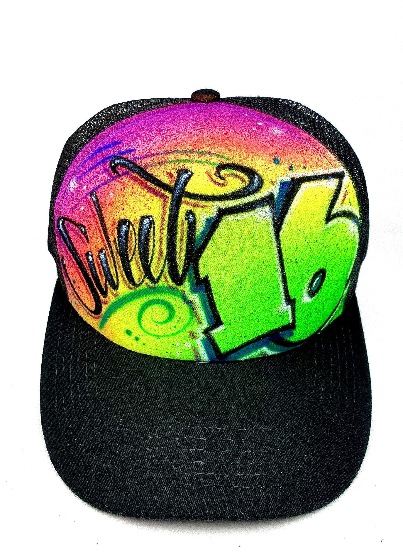 Diy Custom Airbrushed Trucker Hat Streetwear Hat Create Etsy In 2020 Custom Trucker Hats Streetwear Hats Trucker Hat