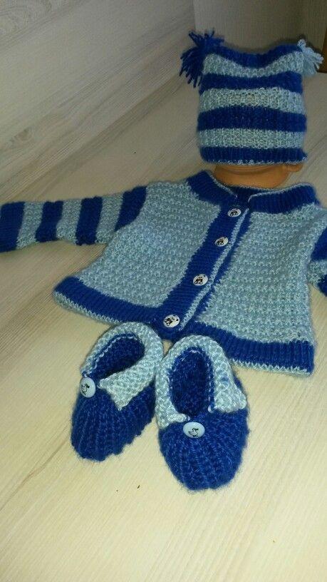 Gestrickte Babygarnitur Baby Baby