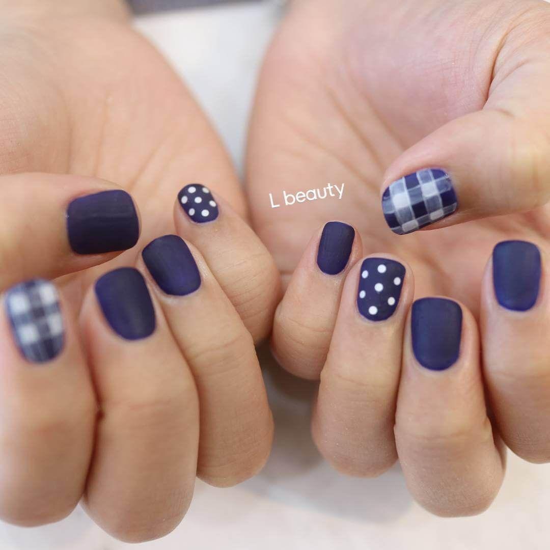 U as decoradas azules con puntos u as pinterest u a - Unas azules decoradas ...