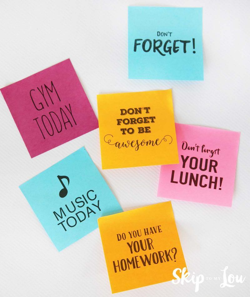 Diy Custom PostIt Notes W Free Printables Makeitstick Postit