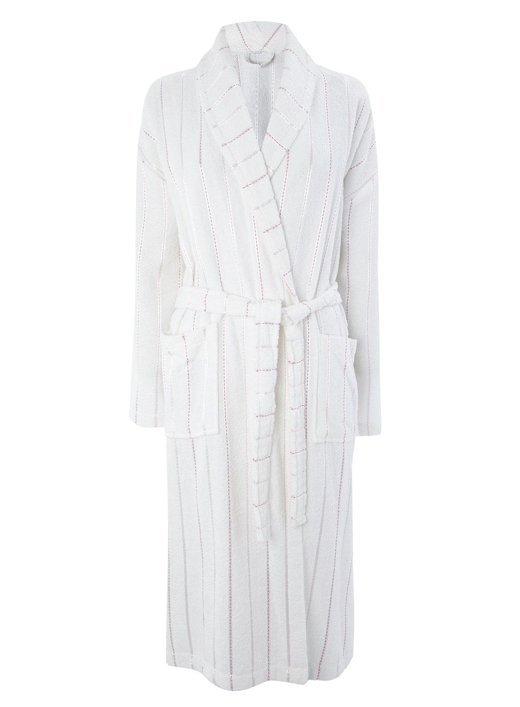 Pink/White Ladies Towelling Dressing Gown | towelling robe ...