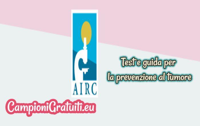 Test e guida alla prevenzione del tumore al seno offerta da AIRC