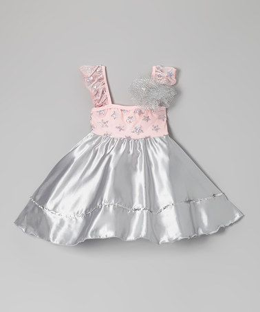 Take a look at this Pink & Silver Star Dress - Toddler & Girls by Ferreira on #zulily today!