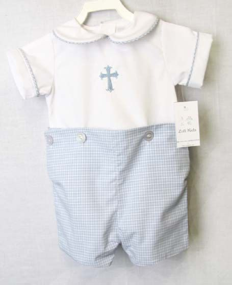 c9947c582 Baby Boy Baptism Outfit with Cross
