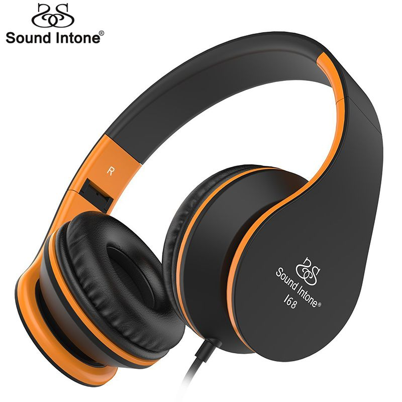 Sound Intone I68 Headphones With Microphone And Volume Control Adults Foldable Music Headset For Iphone Android S Headphones Headset Headphones With Microphone