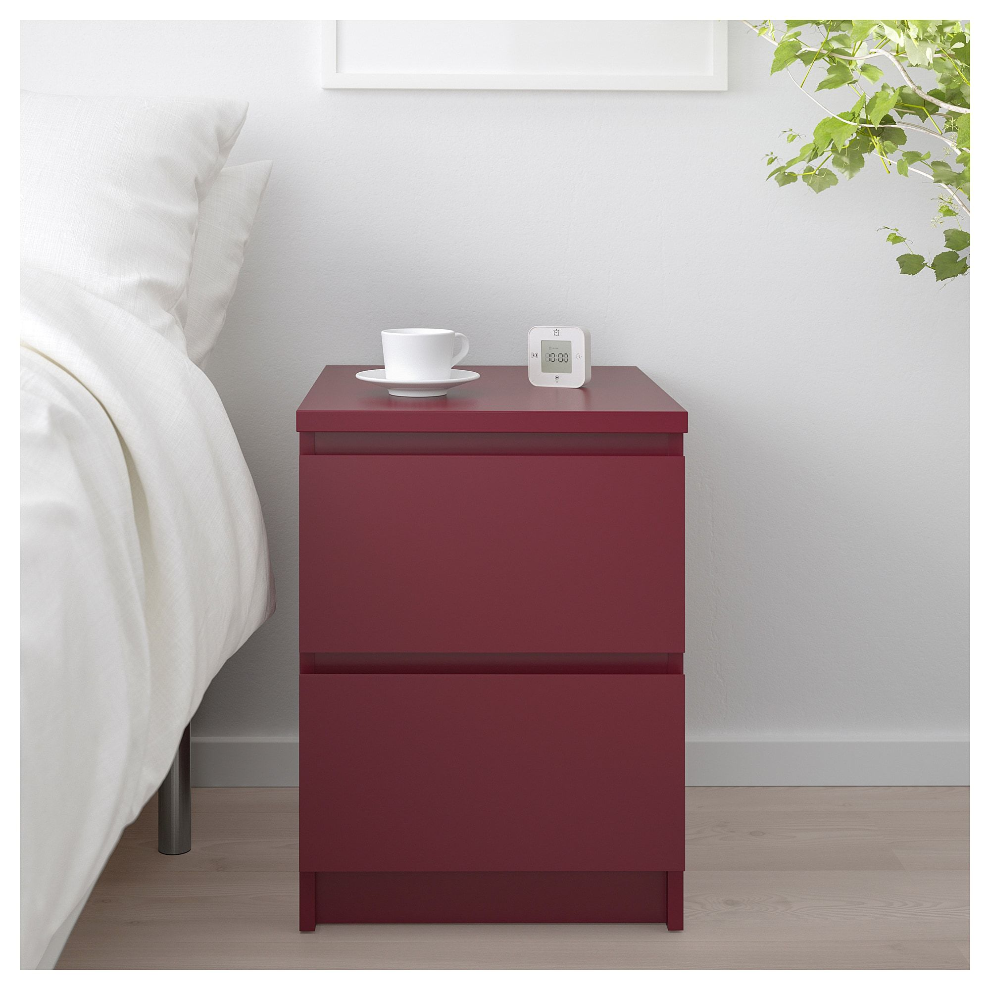 IKEA MALM 2drawer chest dark red in 2019 Products