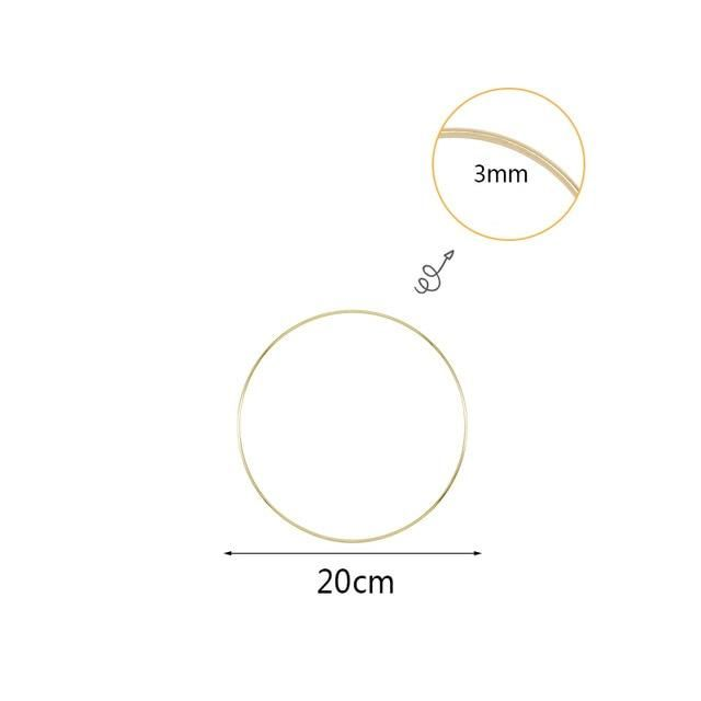 Photo of 10 40cm Gold Metal Ring Hoops DIY Craft Wind Chimes Accessories Hanging Decorations for Wedding Decoration Handmade Home Decor Wind Chimes & Hanging Decorations  – 20cm metal ring