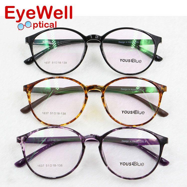 Light retro round TR90 optical frame design in Korea eyeglasses for ...