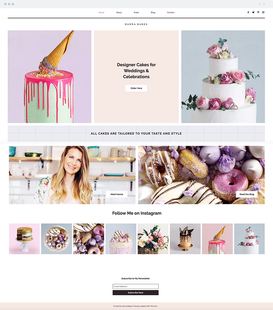 Celebration Cake Website Template Looking For A Mouthwatering Website Template For Your Business This Wix Templates Website Template Wix Website Templates