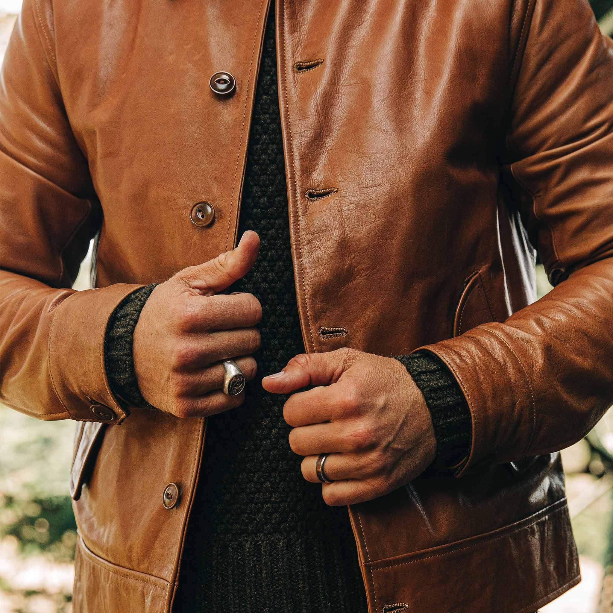 The Cuyama Jacket In Cognac Jackets Taylor Stitch Cognac [ 2048 x 2048 Pixel ]