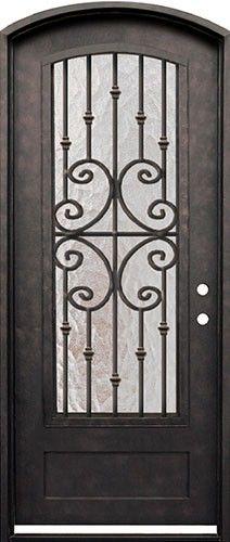 38 X 98 Forte Iron Arch Door Beautiful Wrought Iron Door
