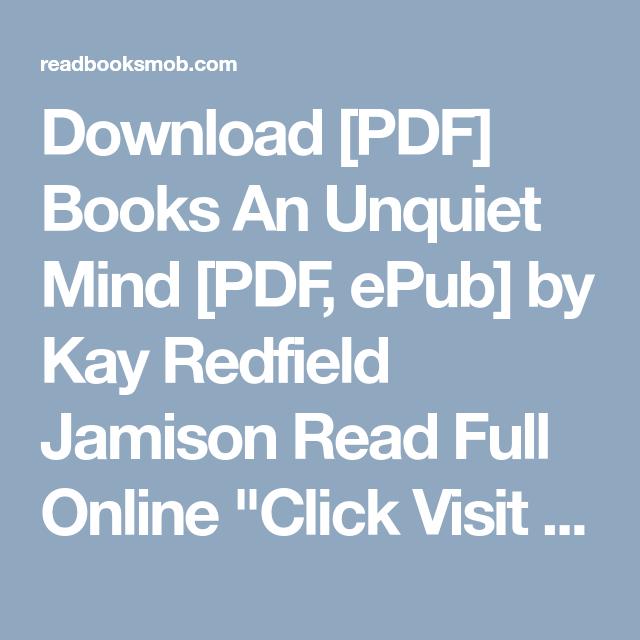 download pdf books an unquiet mind pdf epub by kay redfield