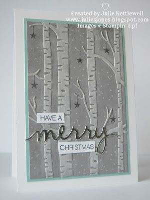 Julie Kettlewell - Stampin Up UK Independent Demonstrator - Order products 24/7: Frosty Woodland