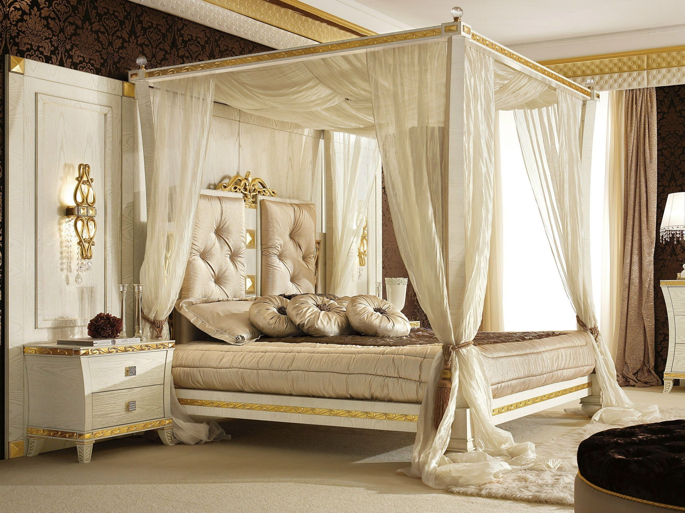 Picture Of Superb Canopy Frame Modern Bed Curtains