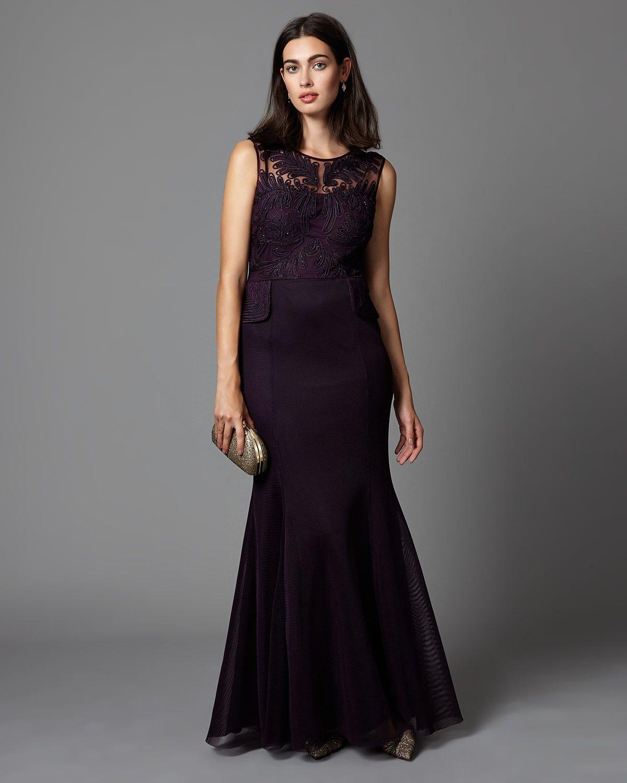 Phase Eight Arianna Peplum Full Length Dress Red | Váy đuôi cá ...