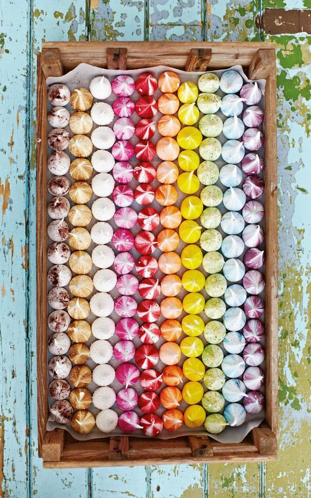 Recipe for these gorgeous rainbow meringue kisses is in previous post. This is to inspire you!