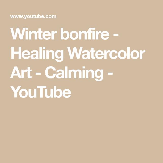 Photo of Winter bonfire – Healing Watercolor Art – Calming