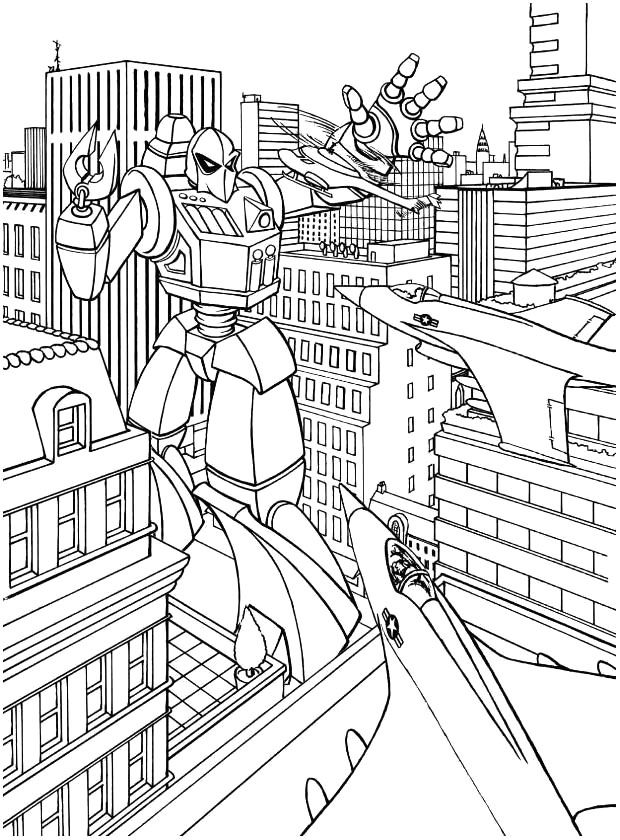 Transformers Robot Destroyed The City Coloring Pages | coloring ...