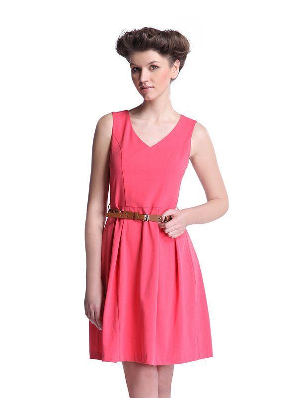 03d6049466 Sukienka damska kolor czerwony SSU0512 - Tania odzież - promocja TOP SECRET