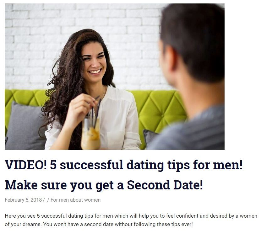 Dating tips for second date
