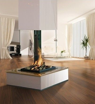 Bespoke Central Glass Fireplace - contemporary - fireplaces - - by ...