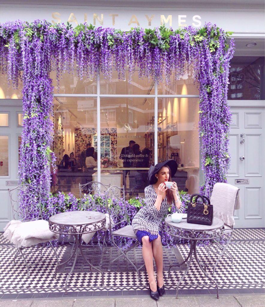 Saint Aymes Lonodn Flower Cafe Coffee Shop Design Cafe Design