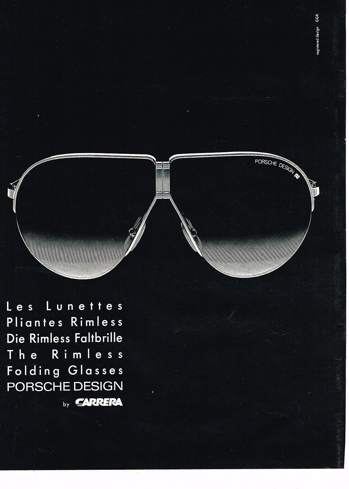 Porsche Carrera 1985 Les Publicités, Publicités Vendanges, Publicité,  Lunettes, Années 1980, 6e5c574bde84