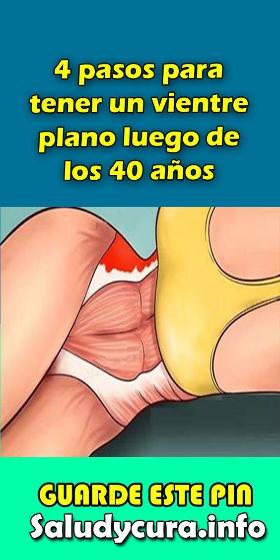 estómago plano después de la menopausia