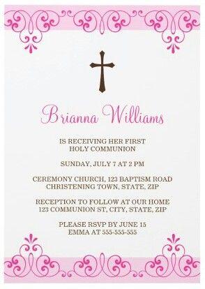 Primera comunion Primera comunión, Bautizos Pinterest - invitation templates holy communion