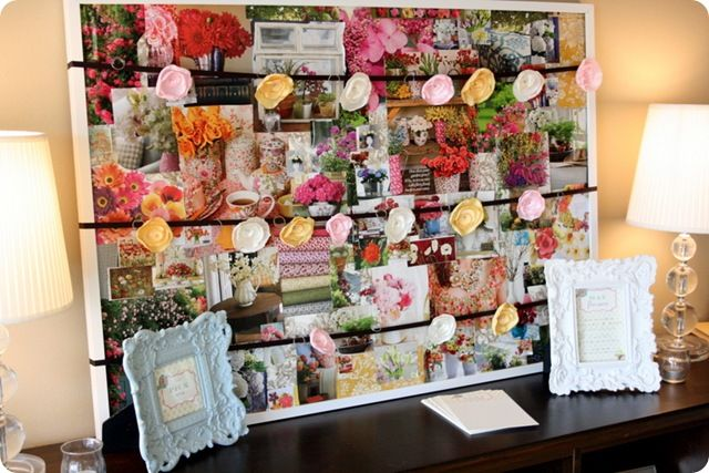 April Showers-May Flowers baby shower {Jones Design Co.}: amazing flower inspiration board + DIY singed flowers as favors for each guest