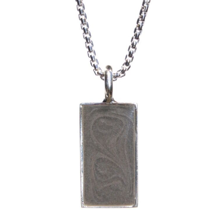 Cremation pendant rectangular setting 21 x 10mm to hold your loved cremation pendant rectangular setting 21 x 10mm to hold your loved ones ashes mozeypictures Gallery