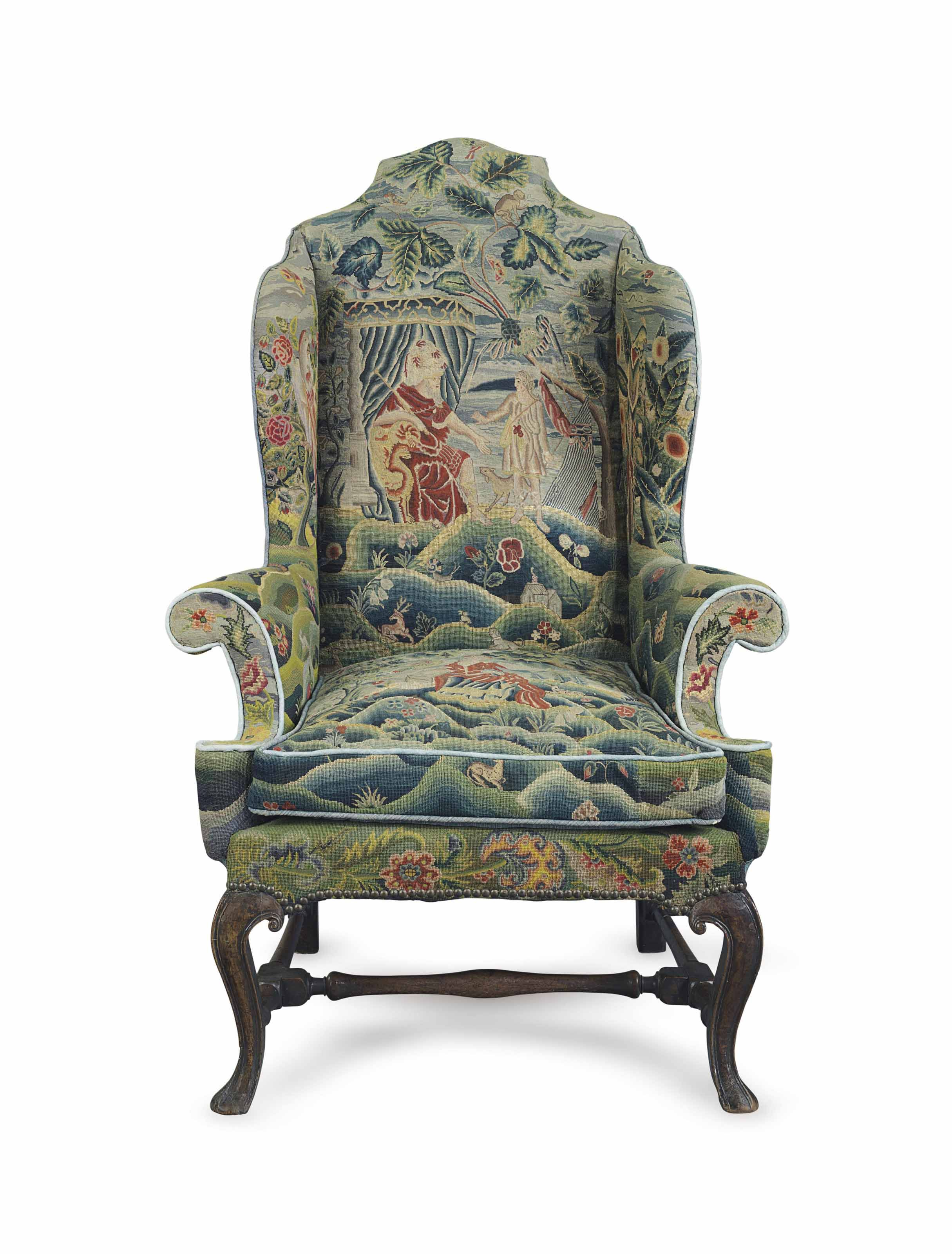 C1710 A Queen Anne Walnut And Beech Wing Armchair Circa 1710 Price