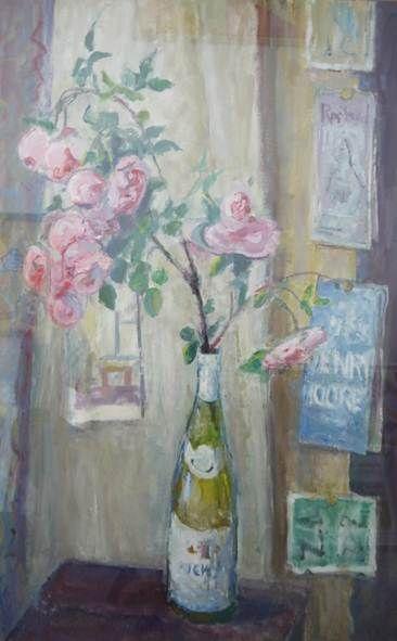 Margaret Thomas    Rose's    51 x 76,  Oil on board