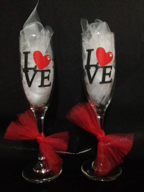 Valentine S Day Decorative Wine Flute Personalized Acrylic