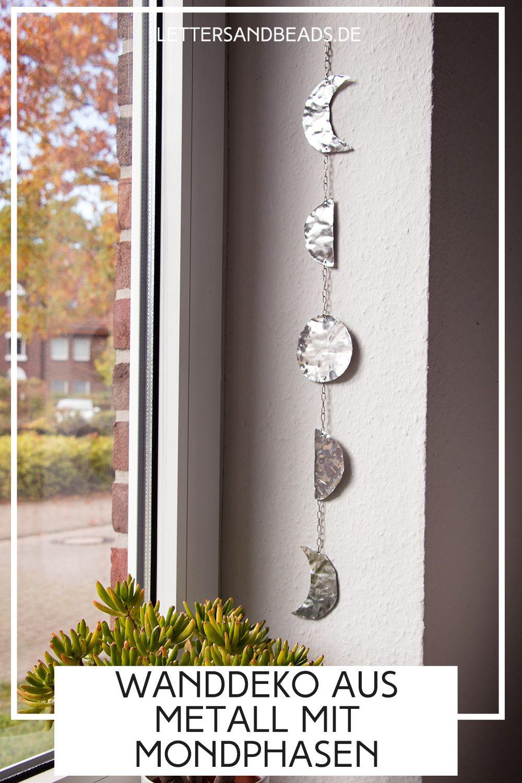 do it yourself wanddeko mit mondphasen aus metall selbstgemacht wanddekoration terrasse orientalische