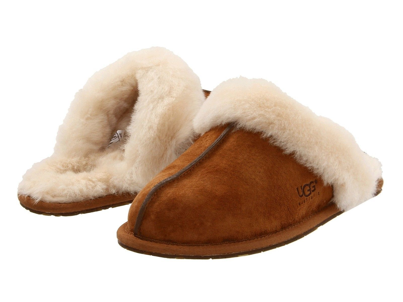 7eaedfbf825 Details about Women's Shoes UGG Scuffette II Slippers 5661 Chestnut ...
