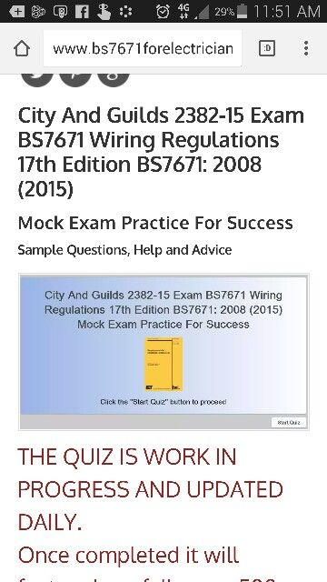 Fine 17Th Edition Exam Simulator Bs7671 17Th Edition Wiring Regulations Wiring Cloud Brecesaoduqqnet