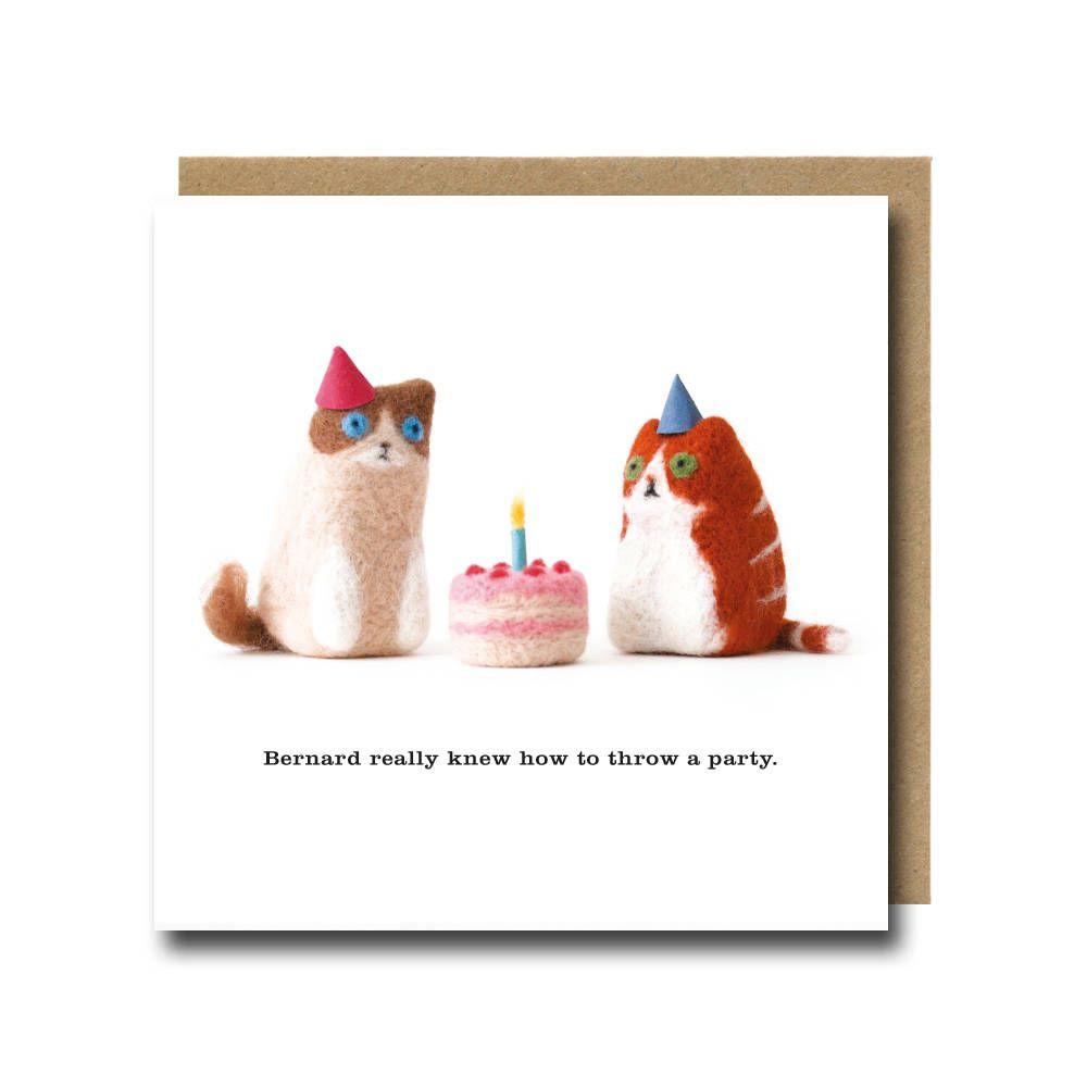 Cat Birthday Card Funny Cat Card Cute Cat Card Birthday Cat Card