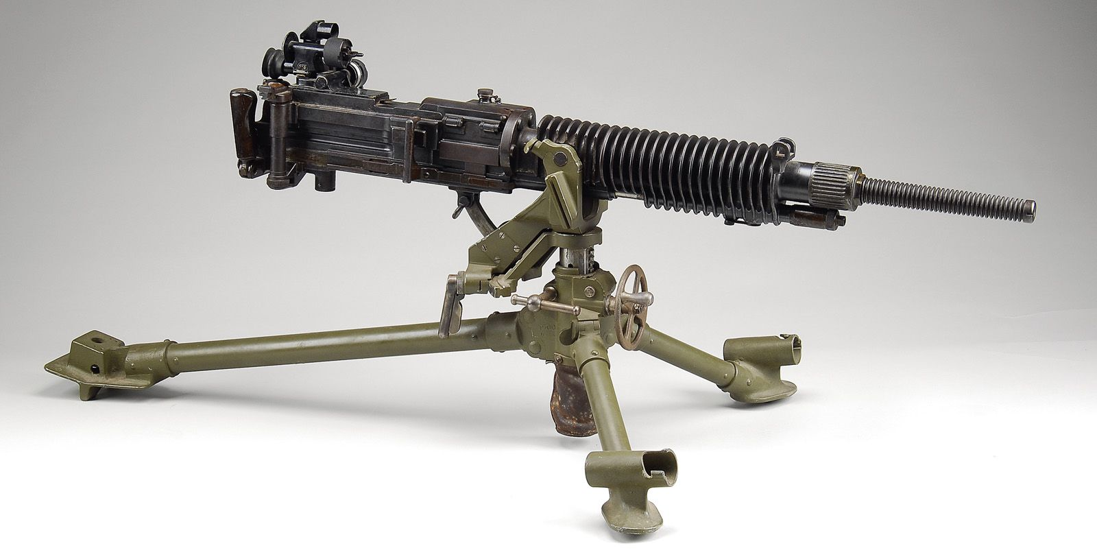 This is a Japanese Type 92 heavy machine gun, chambered in the