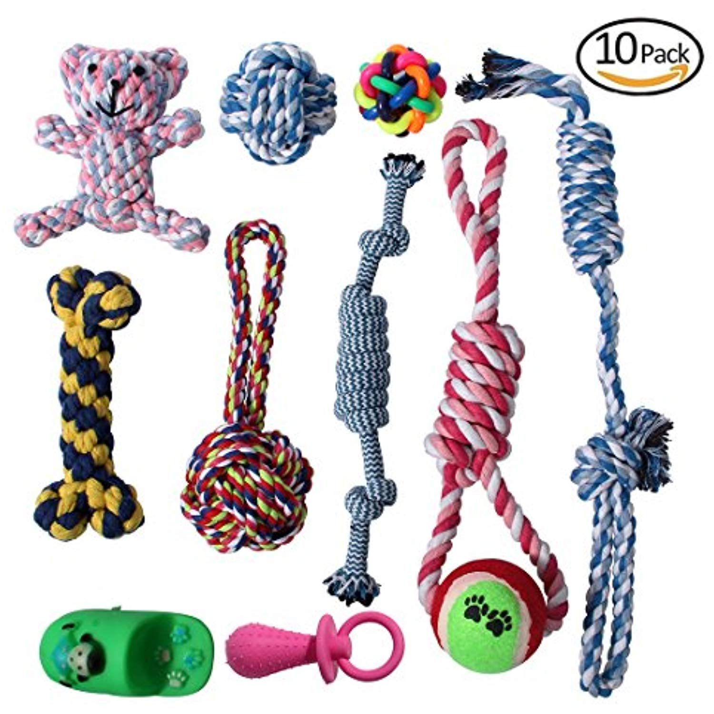 Kemug Dog Rope Toys For Aggressive Chewers Dog Toy Set 10