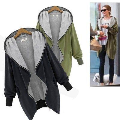 Damenjacken aus Jersey | Jacke mit kapuze, Jacken und Mode