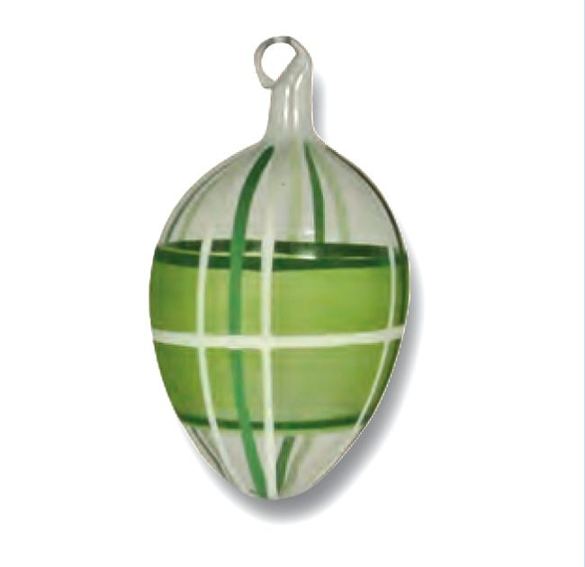 Green Plaid Easter Egg Ornament