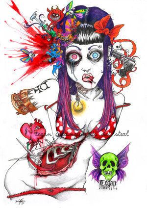 Zombie pin up girl pinterest zombie girl skull drawings and sexy zombie pin up girls recent photos the commons getty collection galleries world map app gumiabroncs Choice Image